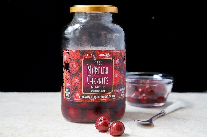 Morello cherry dessert