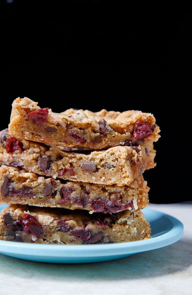Cherry Chocolate Coconut Bars