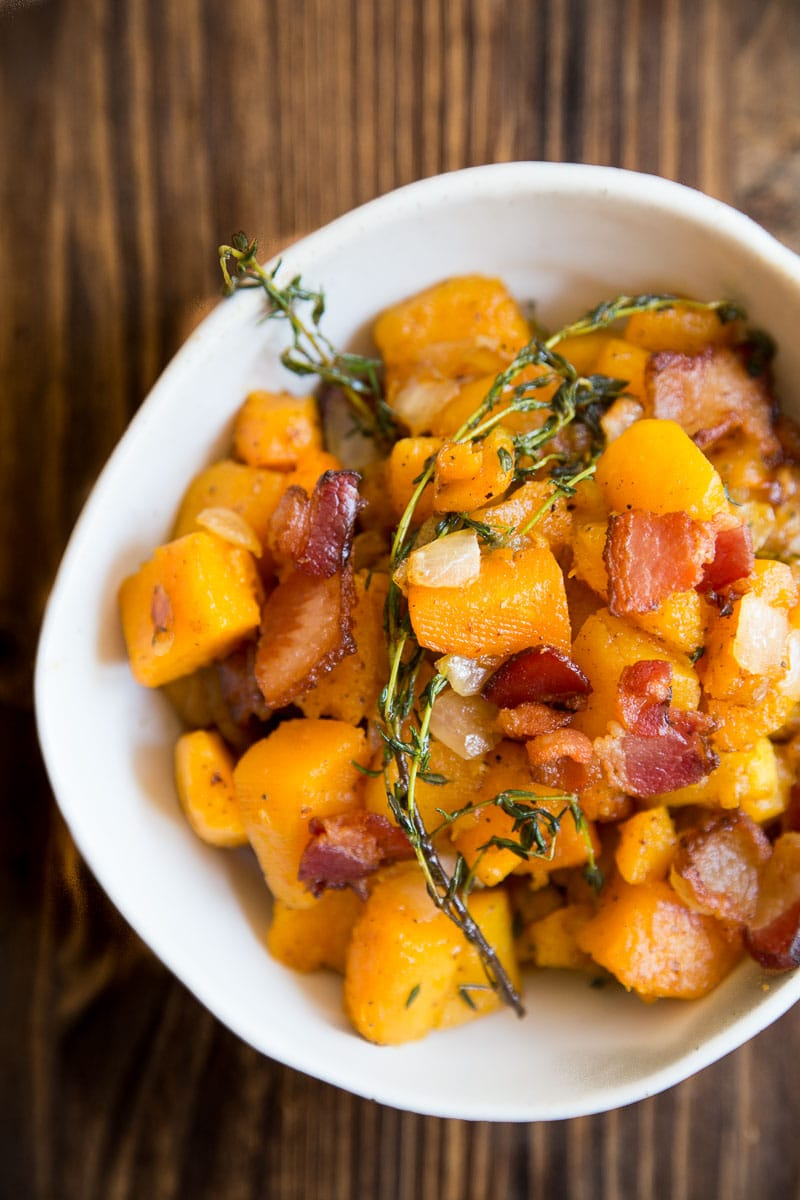 Butternut and bacon hash