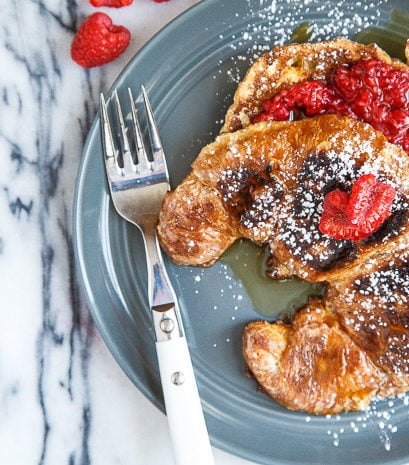 French toast made with croissants!