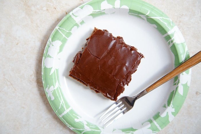 Half recipe for Texas Chocolate Sheet Cake