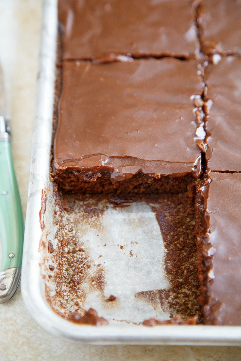 A small recipe for Texas Chocolate Sheet Cake