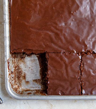 Half of Pioneer Woman's Chocolate Sheet Cake