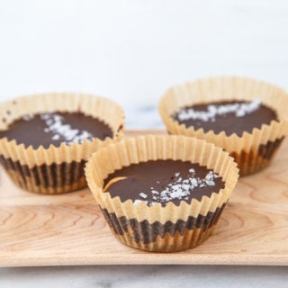 Healthy homemade chocolate peanut butter cups