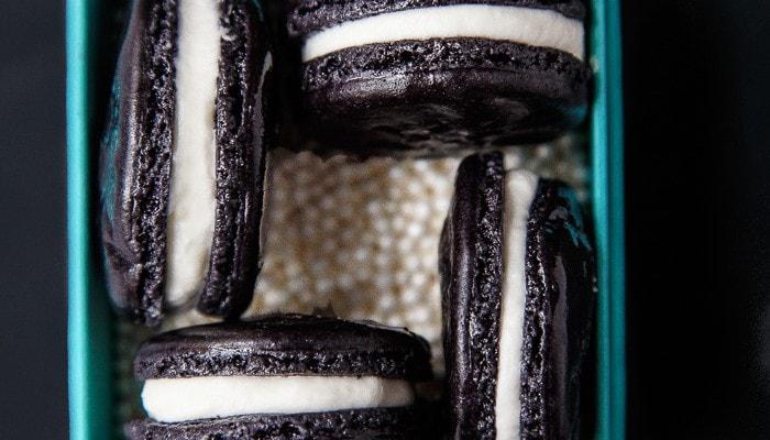 Spooky Black Macarons