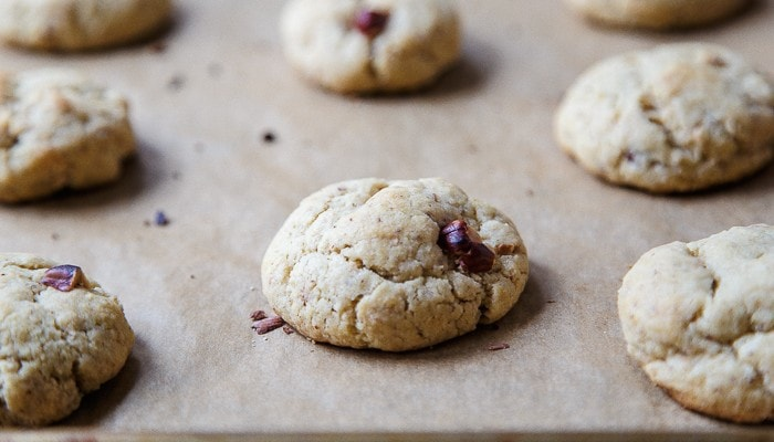 Hazelnut Cookies with Chocolate Drizzle