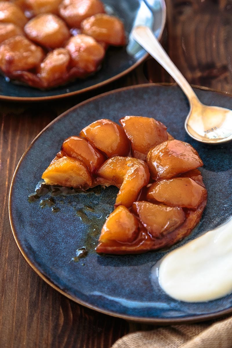 Individual apple tarte tatin for two