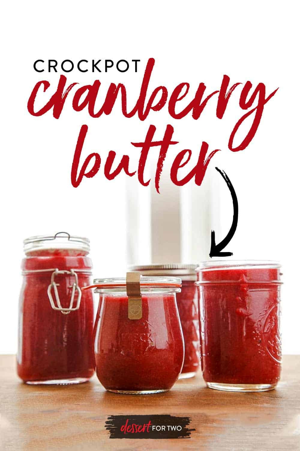 Cranberry sauce made in the slow cooker. Naturally sweetened with maple syrup and fresh orange juice. Puree it and use it like jam or spread on a cheese plate. #crockpot #crockpotcranberysauce #cranberry #cranberrybutter #slowcookercranberrysauce #crockpotcranberrybutter