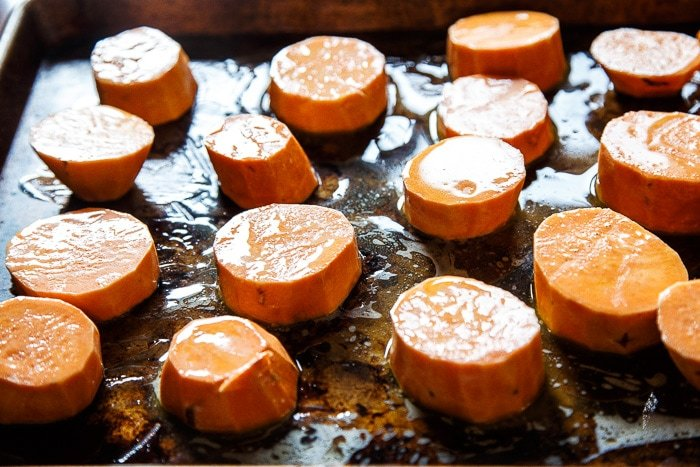 Roasted Sweet Potato Disks
