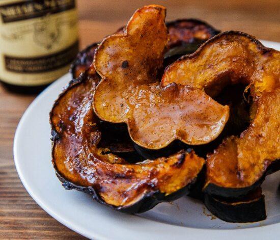 Vanilla roasted acorn squash