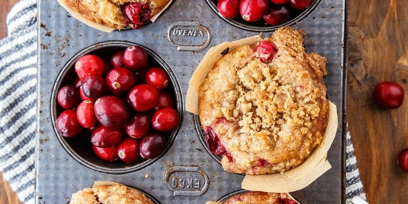 Cranberry Coffee Cake Muffins