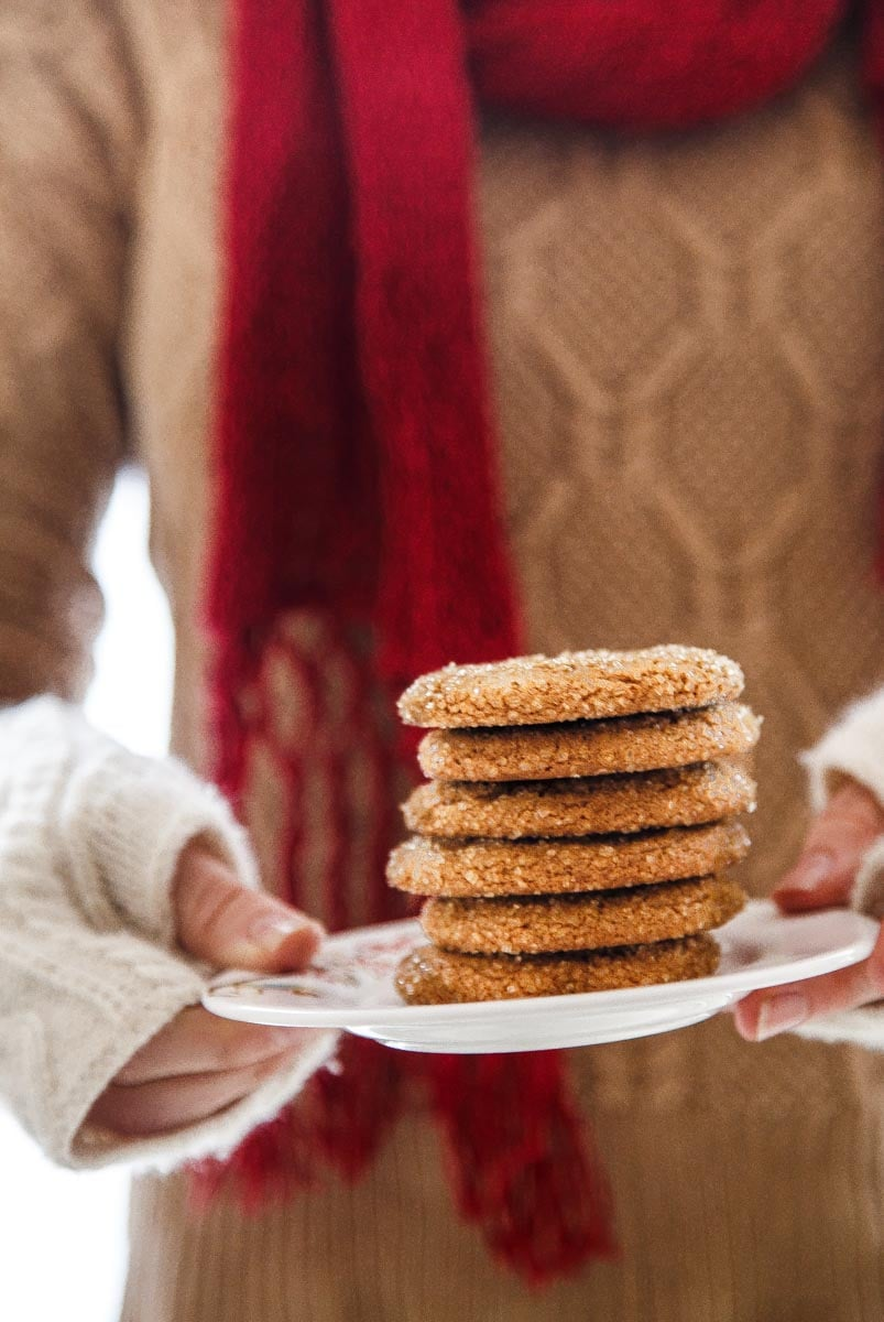 Old Fashioned Chewy Molasses Cookies @dessertfortwo