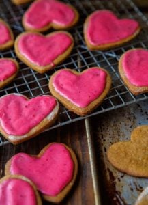 Orange-Spiced Gingerbread Cookies (with Cranberry Glaze)