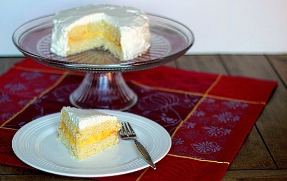 Small lemon cake for two