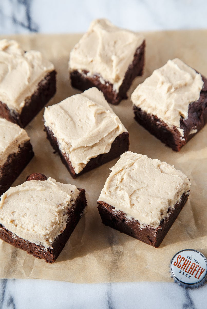 Beer Brownies for your man. @dessertfortwo