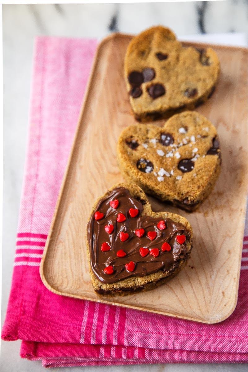 Chocolate Chip Heart Cookies Recipe