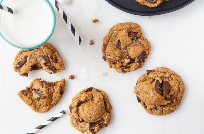 Easy Almond Butter Cookies with Chocolate Chunks