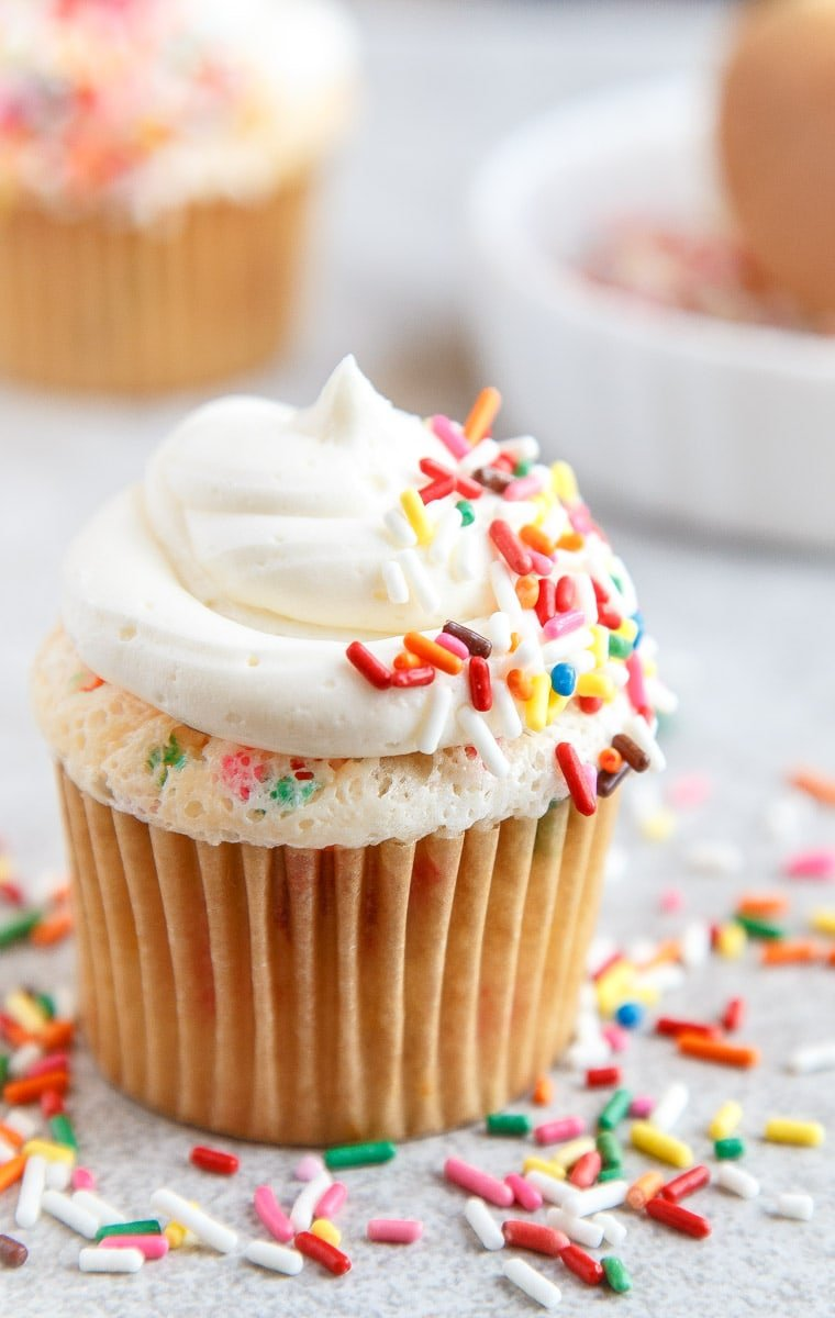 Small batch Funfetti Cupcakes