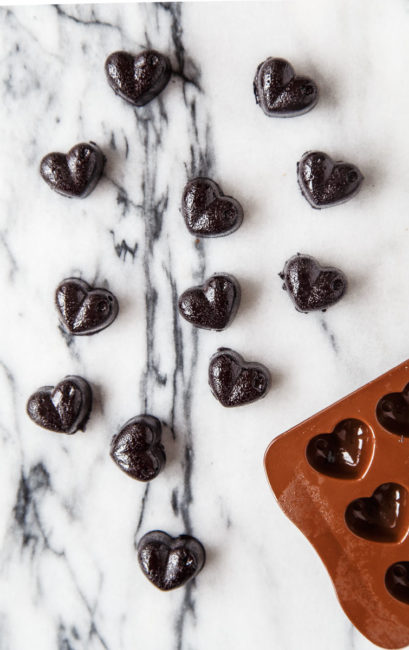 My Cold Black Heart: Licorice Heart Chews