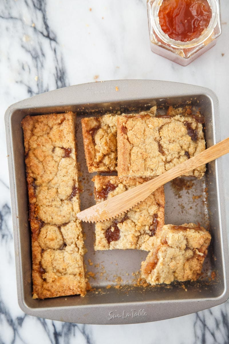 Almond Meal Jam Bars