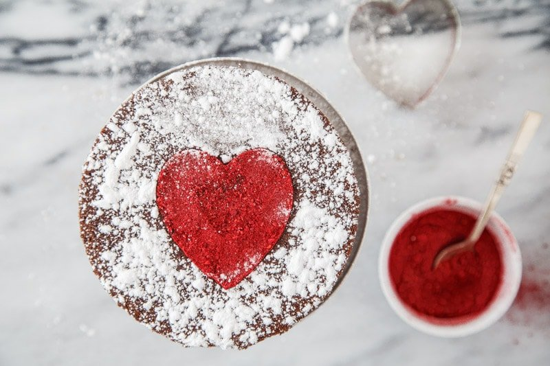 One Bowl Chocolate Cake with Heart Recipe