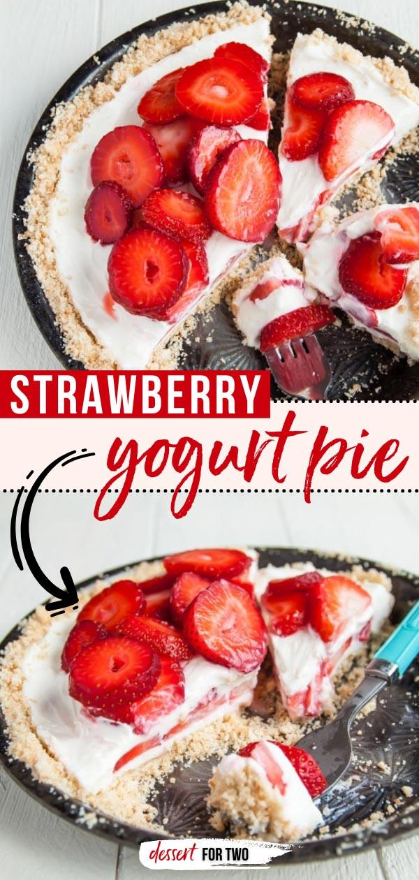 Strawberry yogurt pie.