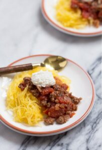 Baby Food: Baby Bolognese + Spaghetti Squash