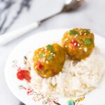 Baby Food: Mango Chicken Meatballs + Coconut Sticky Rice