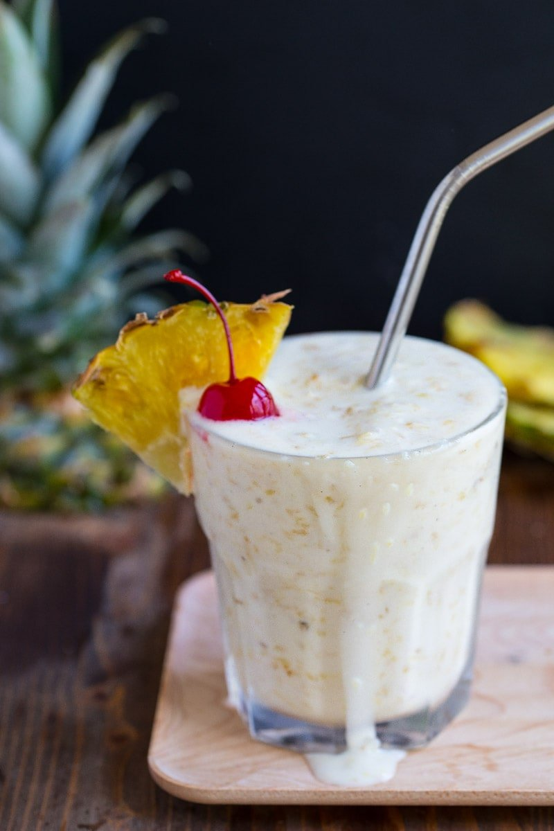 Roasted Pineapple Milkshake with Coconut Ice Cream and Rum