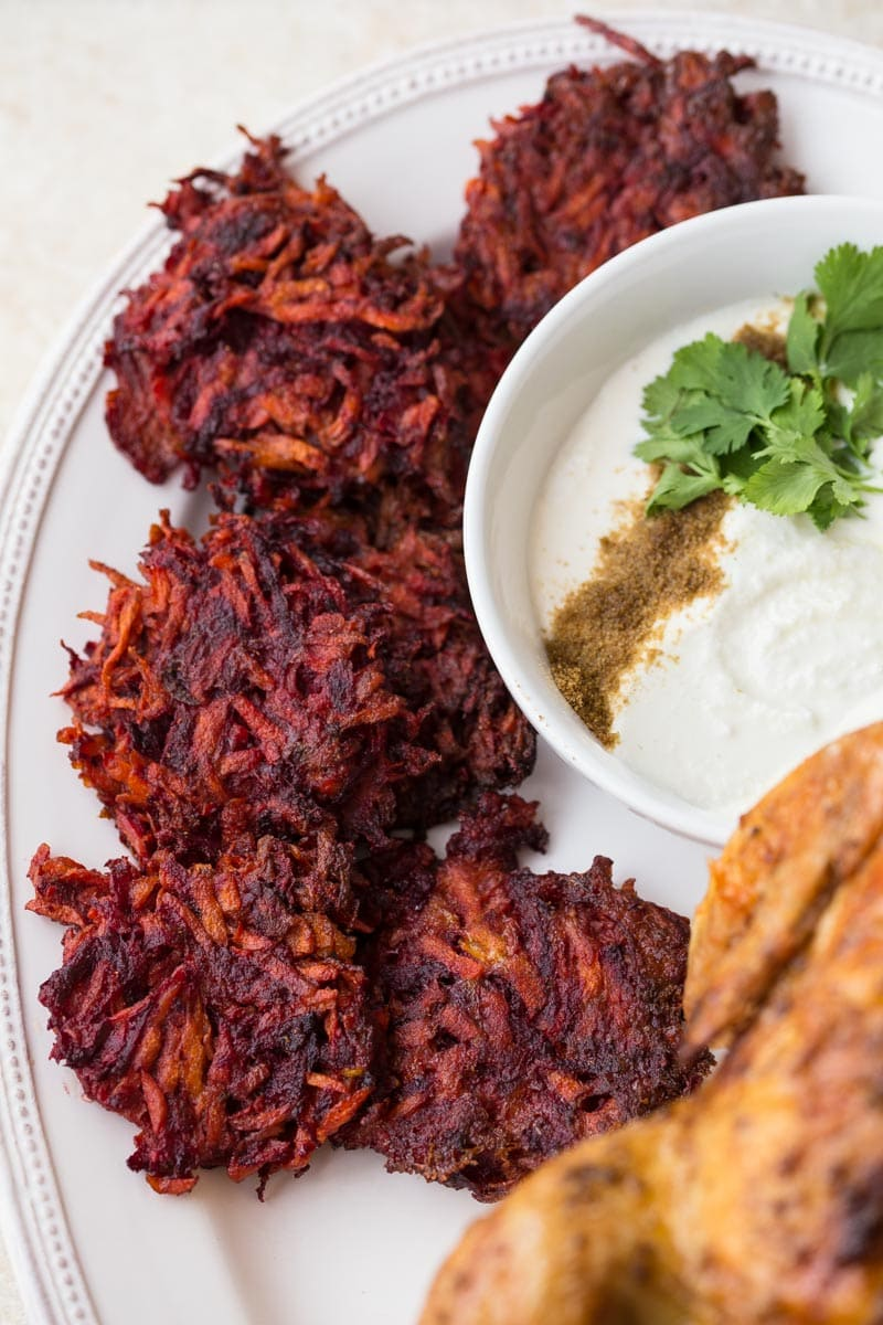 Carrot beet fritters for babies and picky eaters!