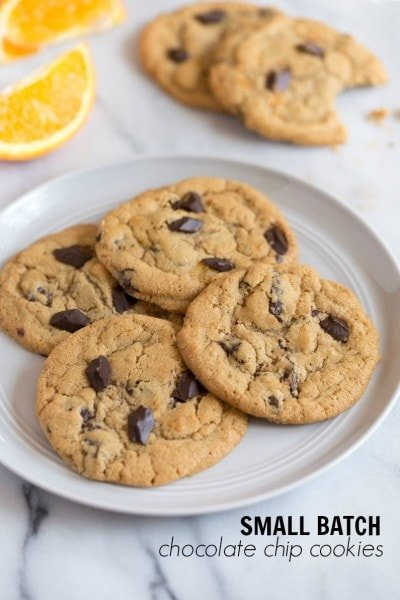 Small batch chocolate chip cookies recipe. This recipe makes less than 1 dozen cookies