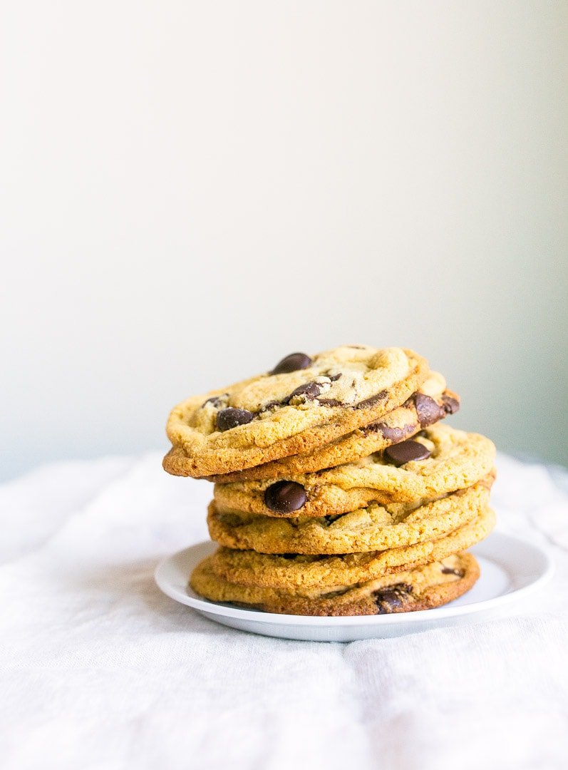 Small Batch Chocolate Chip Cookies for two. Recipe makes just 1 dozen cookies, perfect for two!