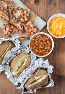 Barbecue Stuffed Baked Potatoes