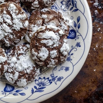 Chocolate Gooey Butter Cake Cookies