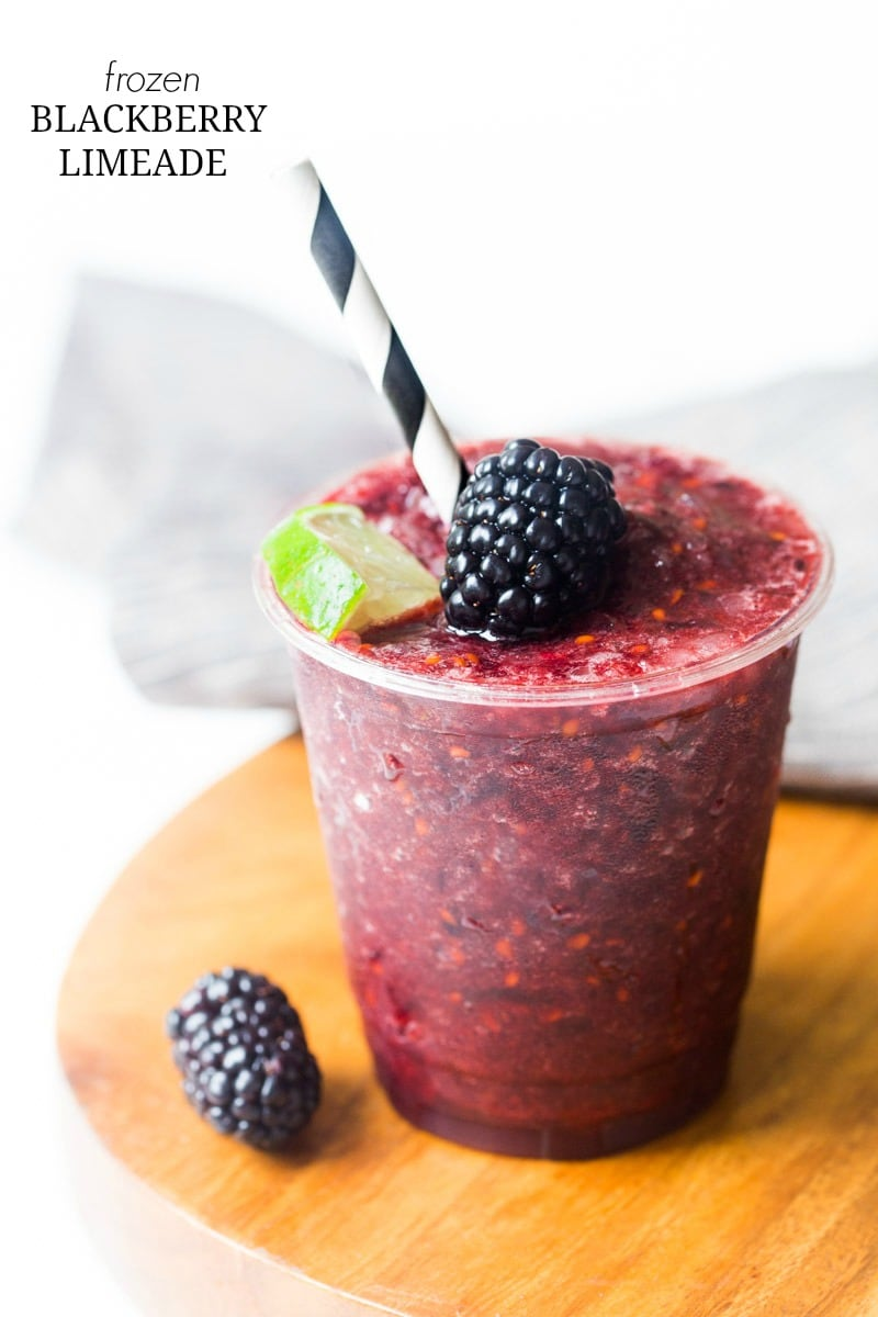 Frozen limeade with blackberries @DessertForTwo