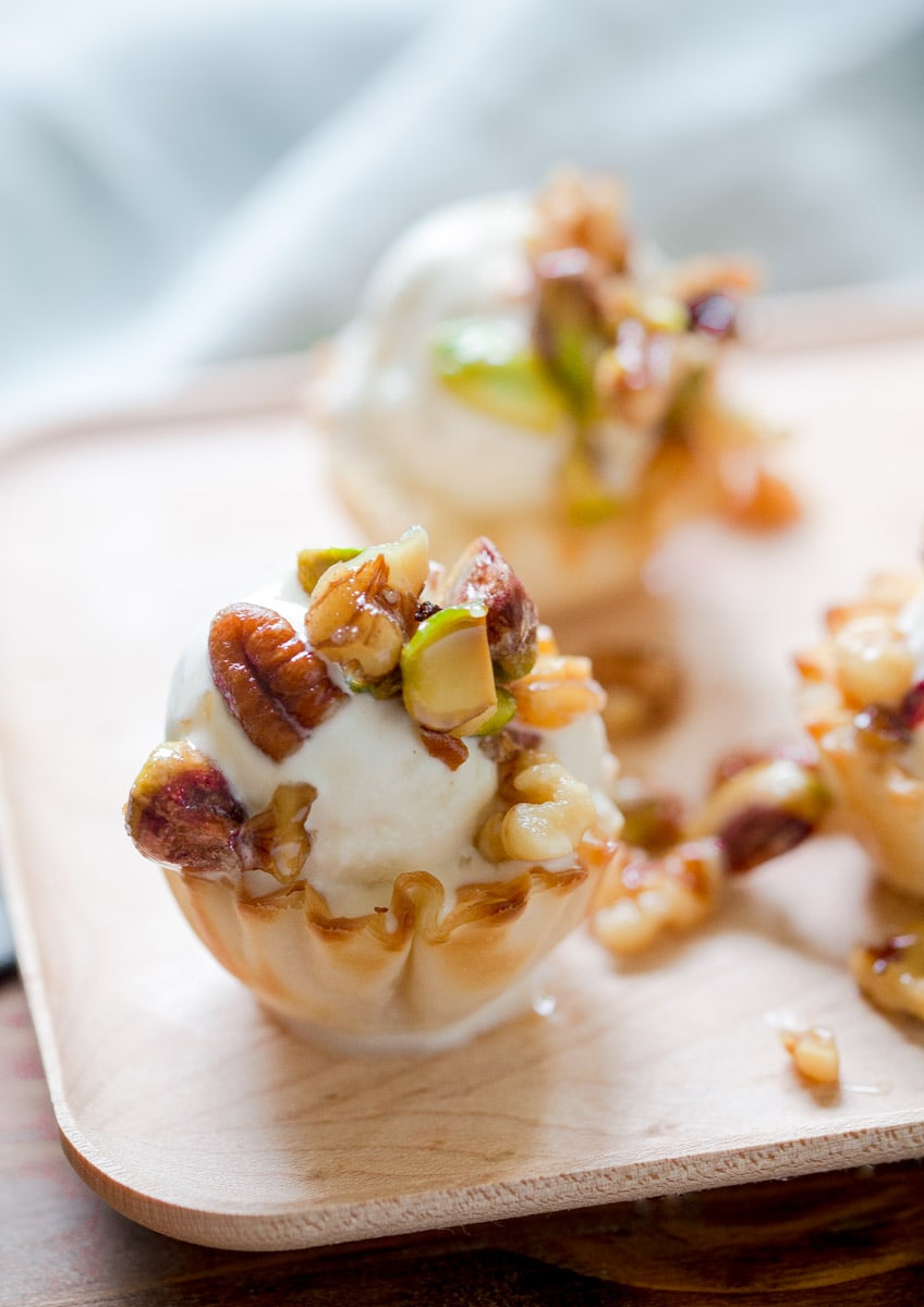 Baklava Ice Cream Sundaes.