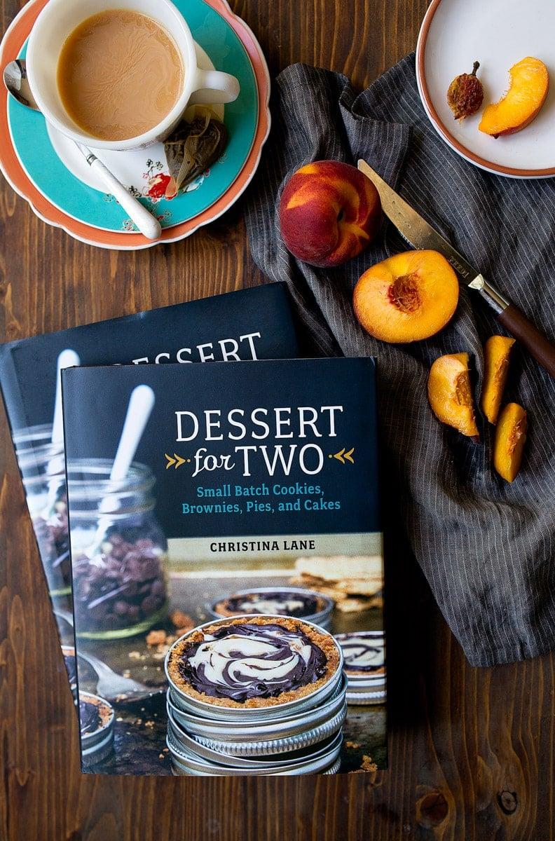 Peach Cobbler for Two recipe by Dessert for Two. Small batch peach cobbler dessert.