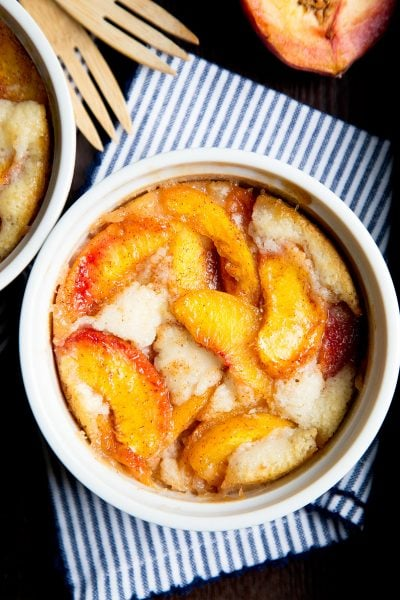 Easy Peach Cobbler Recipe for two