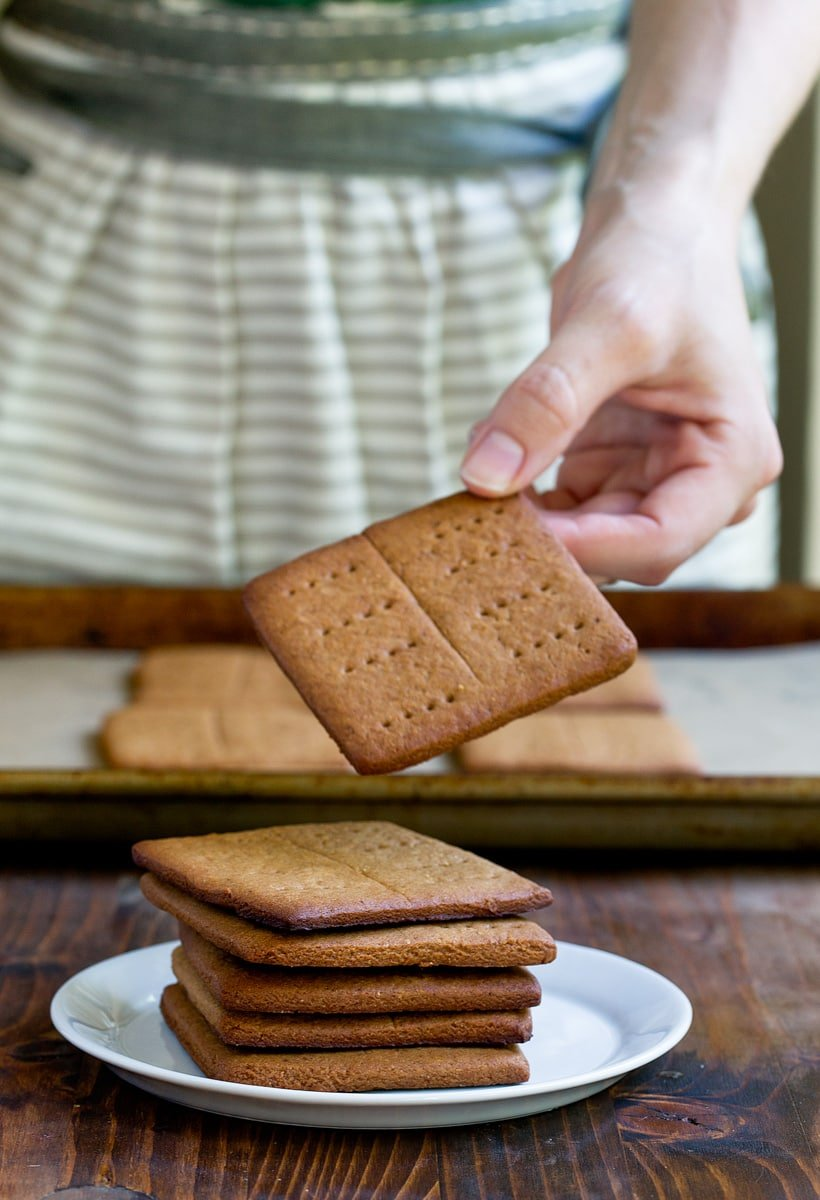 Homemade Graham crackers made refined sugar free with coconut sugar and honey. Naturally sweetened!