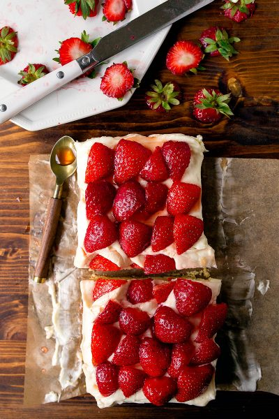 Strawberry Shortcake Bars Recipe for Two