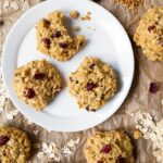 Healthy quinoa cookies naturally sweetened with honey. Made with flax, oats and quinoa!