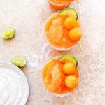 Salty Cantaloupe Slush Cocktail