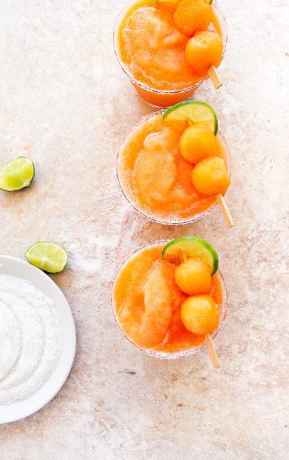 Boozy Salty Melon Cocktail Slush