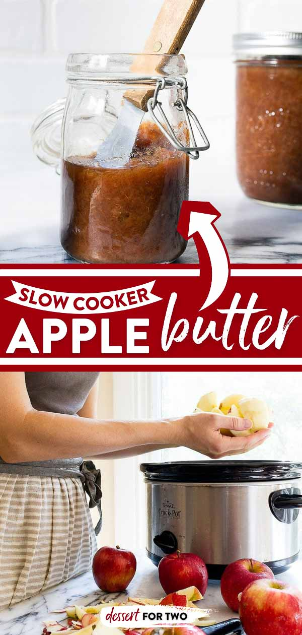 Apple butter recipe: slow cooker apple butter that makes your house smell amazing! Crockpot apple butter is the epitome of Fall. #fall #applebutter #apple #appledesserts #crockpot #slowcooker