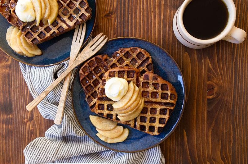 French Toast Waffles: Apple Pie Spiced Waffles