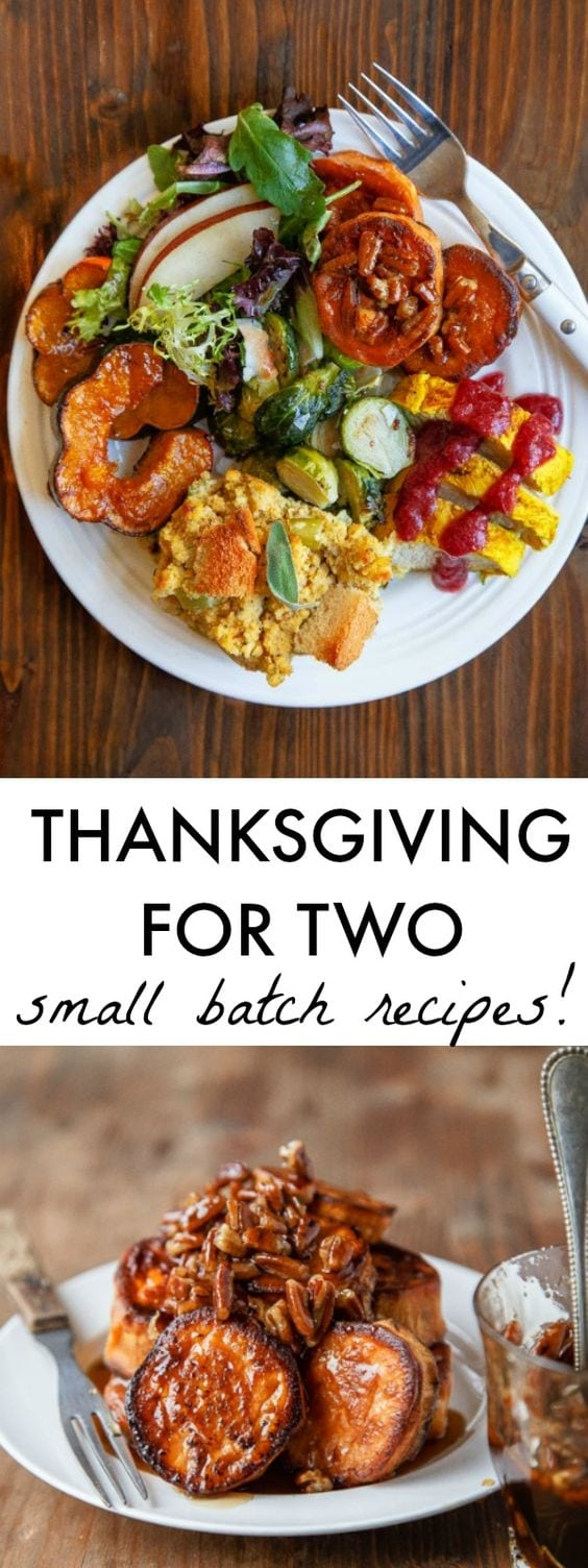 Thanksgiving for two can be still be a small Thanksgiving feast. Here's how to pull it off while making sure you get a taste of everything quintessential Thanksgiving!