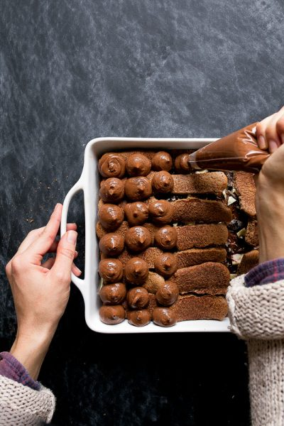 Homemade Chocolate Ladyfingers for Chocolate Tiramisu
