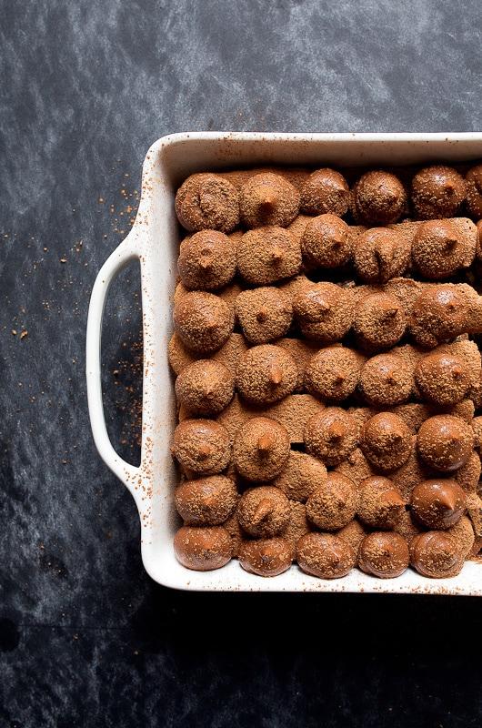 Chocolate Peppermint Tiramisu with Peppermint Bark
