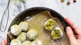 Matcha Lime Snowballs