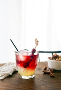 New York Sour (Red Wine + Whiskey Cocktail)